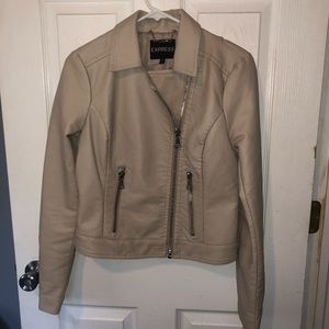 Express Women's Vegan leather jacket with zippers